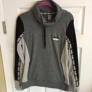 Grey/ black sweatshirt. VS Pink Medium